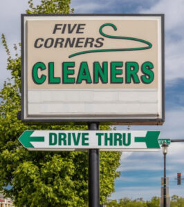 5 Corners Cleaner Sign